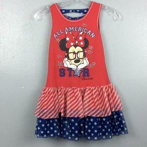 Disney All American Star Minnie Girls Dress Sz M